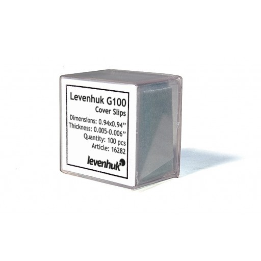 Levenhuk G100 Cover Slips, 100 pcs