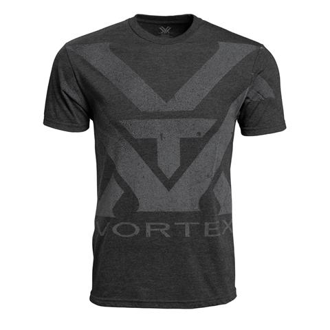 Vortex Charcoal Heather Oversize Logo T-shirt Maat XXL