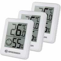 Bresser 3-Delige Temeo Thermo/Hygro Indicatorenset - Wit