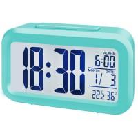 Bresser MyTime Duo LCD-wekker - Turquoise