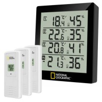 National Geographic Thermo- en Hygrometer (4 Meetresultaten)