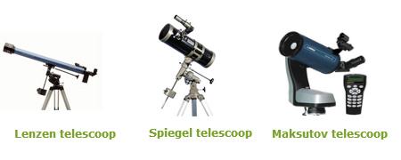 soorten telescopen